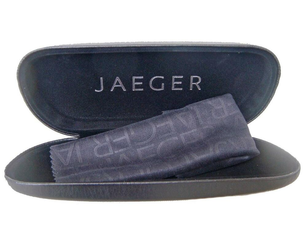 JAEGER Spectacles Glasses Eyewear Case & Cloth Lunettes ...