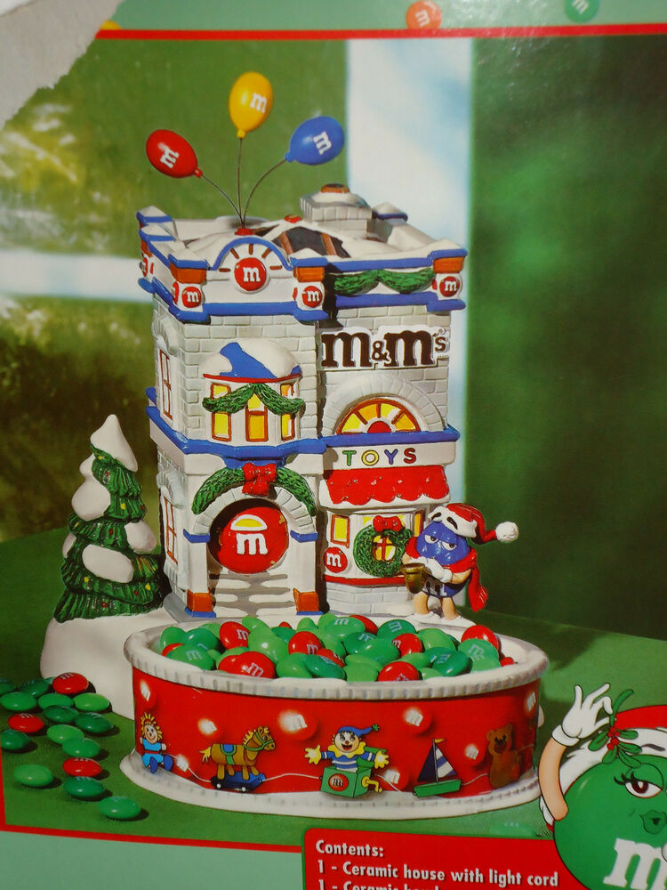 Department 56 Lighted M M 39 S Christmas House Candy Dish