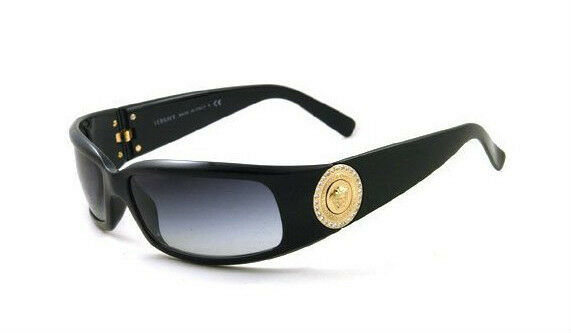 RARE Authentic VERSACE Medusa Diamontes Gold Black