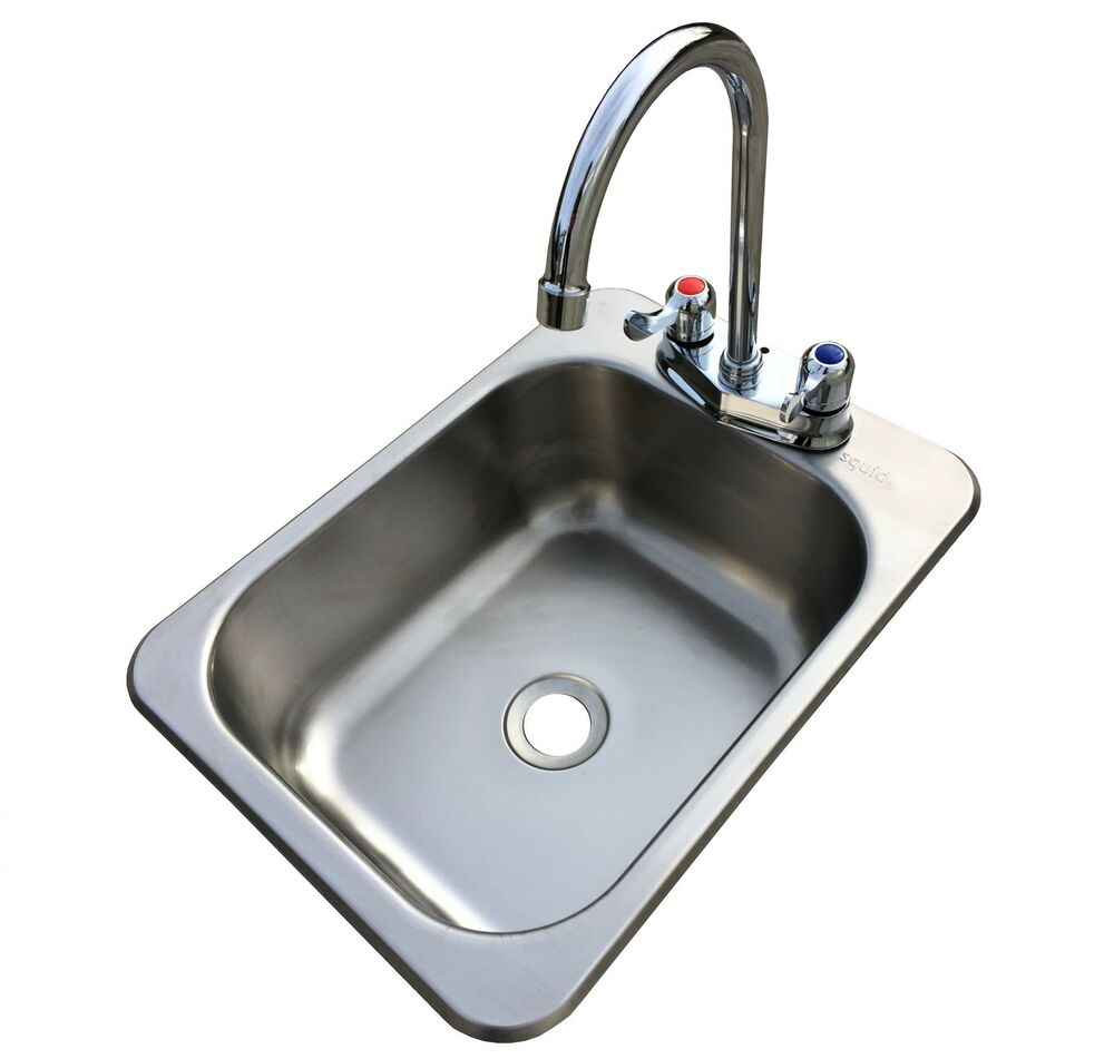Counter Top Sunk Inset Stainless Steel HAND WASH BASIN Sink Waste ...