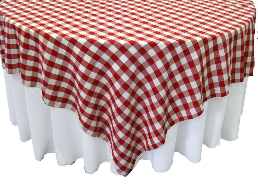 10 Checkered Tablecloths 72 Quot 215 72 Quot Square Overlays Polyester