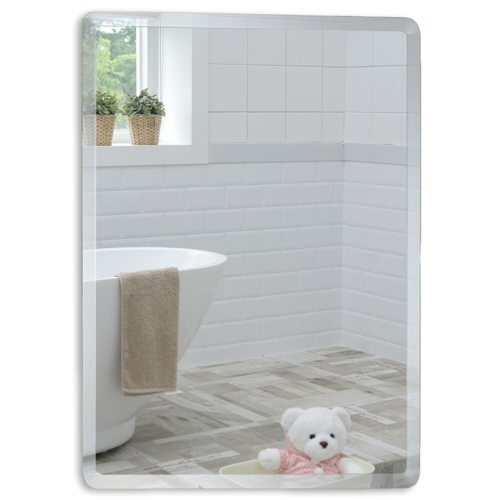 wall mounted mirror bathroom mirror rectangular great quality with bevel 28893