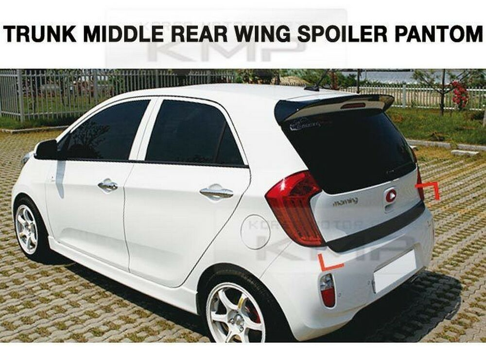 trunk middle rear wing spoiler painted for kia 2011 2012. Black Bedroom Furniture Sets. Home Design Ideas