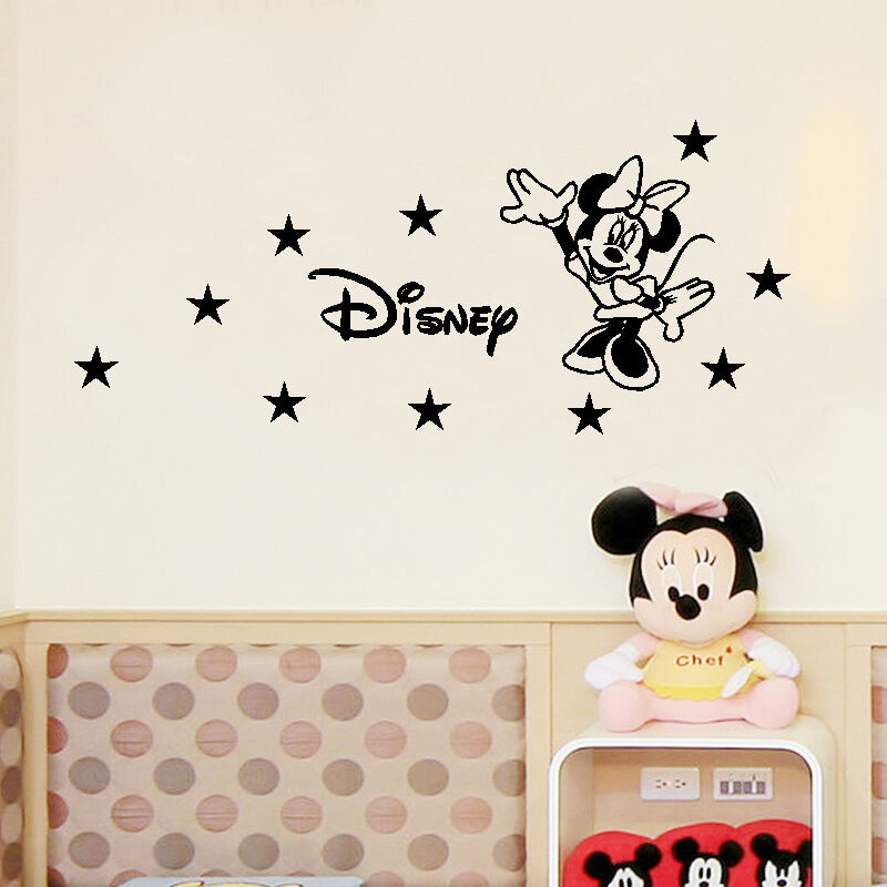 personalized custom name minie mouse vinyl kids room wall. Black Bedroom Furniture Sets. Home Design Ideas