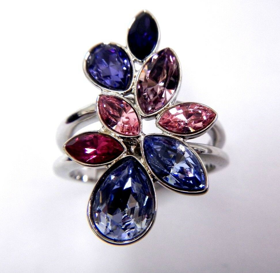 Tody Multi Purple Crystal Ring Size 8 Eur 58 2014