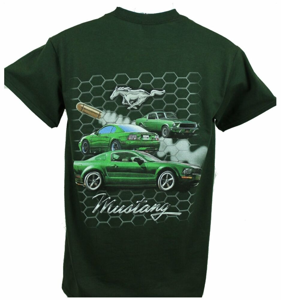 ford mustang bullitt t shirt brand new sold exclusively here licensed by ford ebay. Black Bedroom Furniture Sets. Home Design Ideas