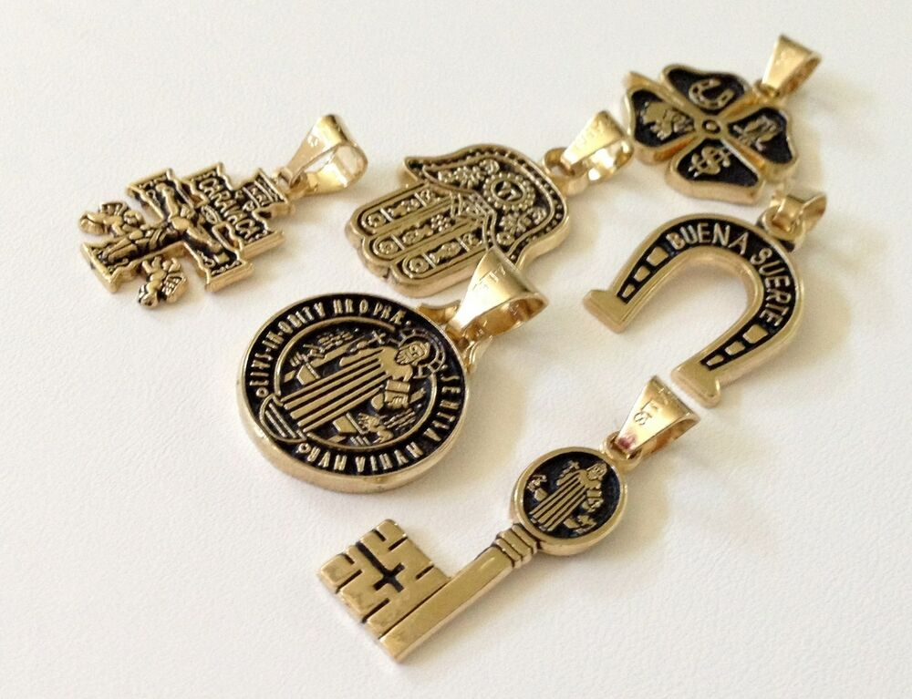 Gold filled charms amulets good luck evil eye and fashion for Amuletos para la oficina