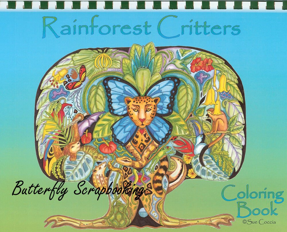 Coloring Book Rainforest Criters Animal Spirits 15 Page
