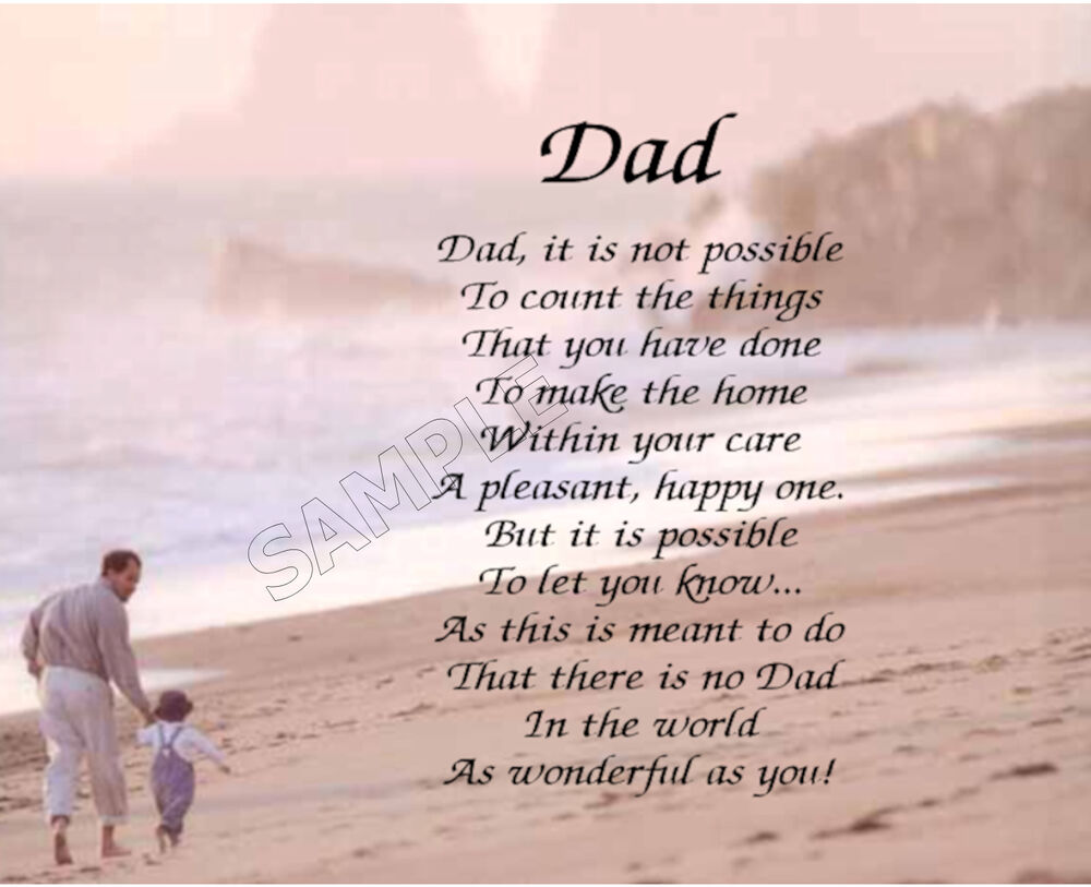 DAD PERSONALIZED POEM MEMORY BIRTHDAY FATHER'S DAY GIFT | eBay