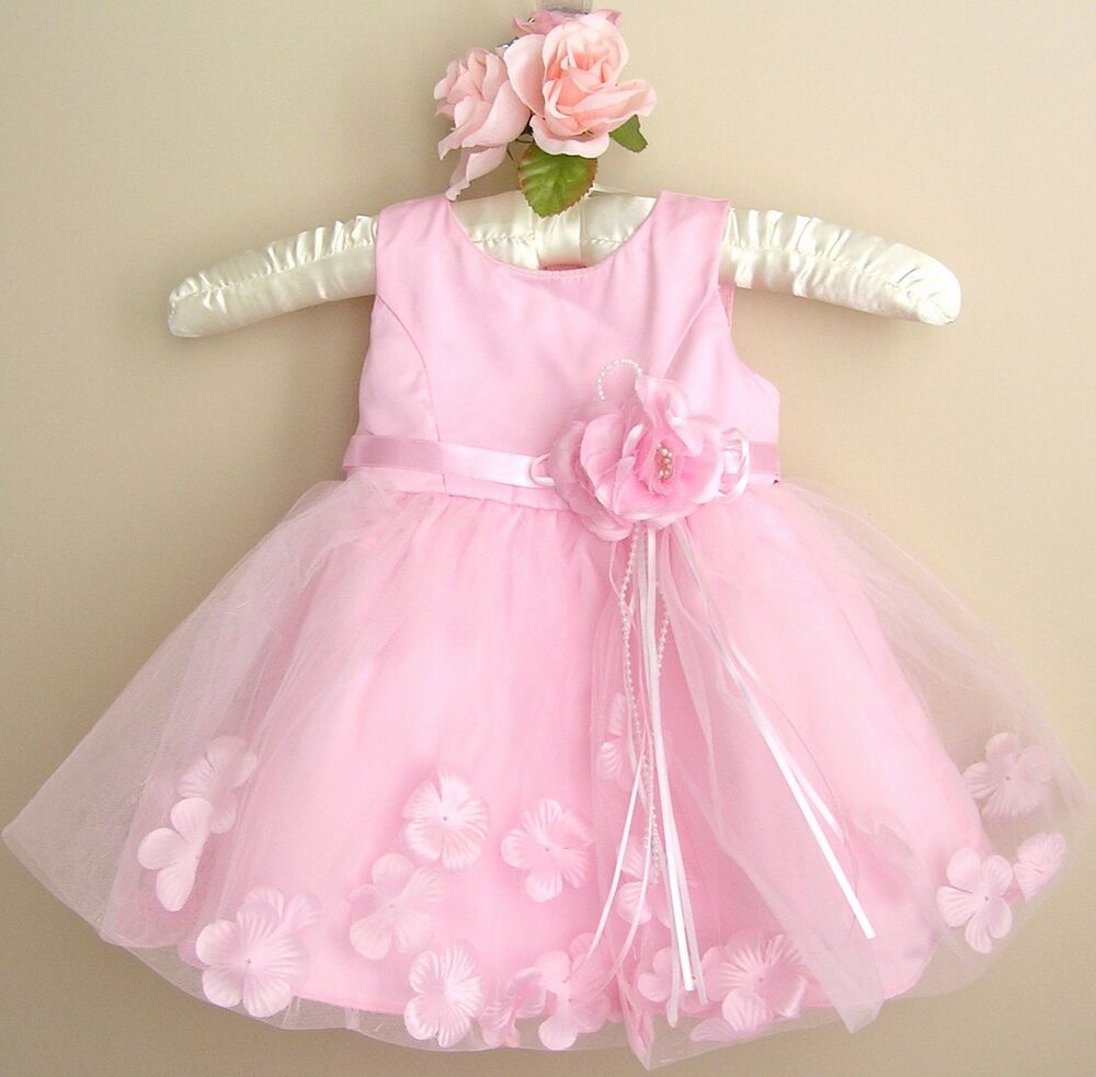 Baby Girl Pink Dress,Baby Pink Baptism, Christening ...