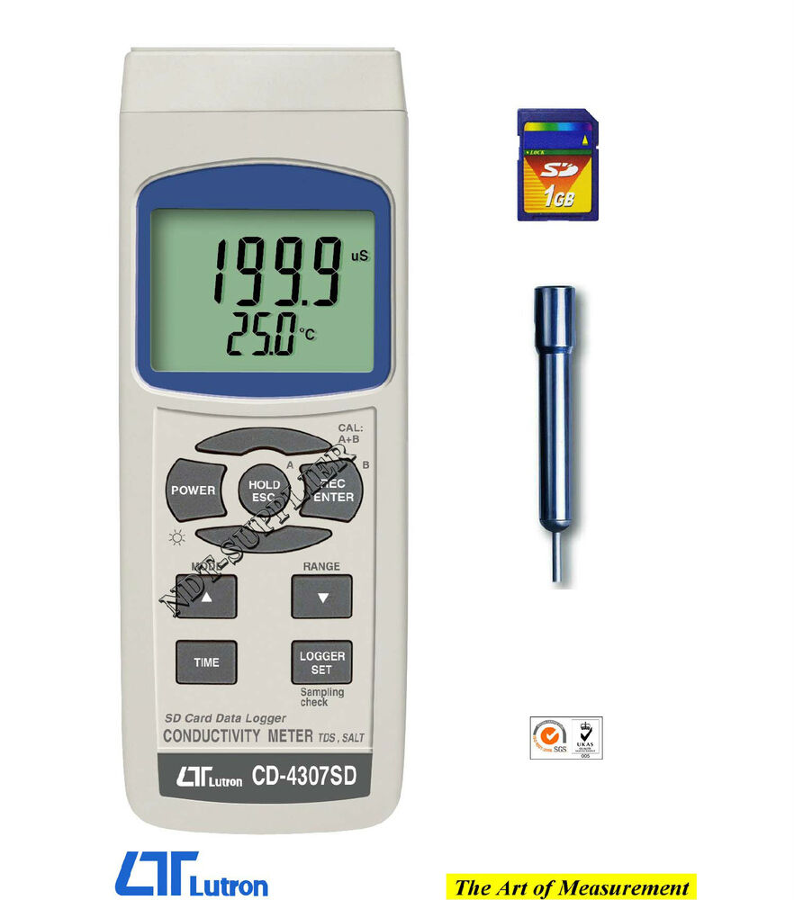 Digital Conductivity Meter : Brand new lutron cd sd digital conductivity tds salt