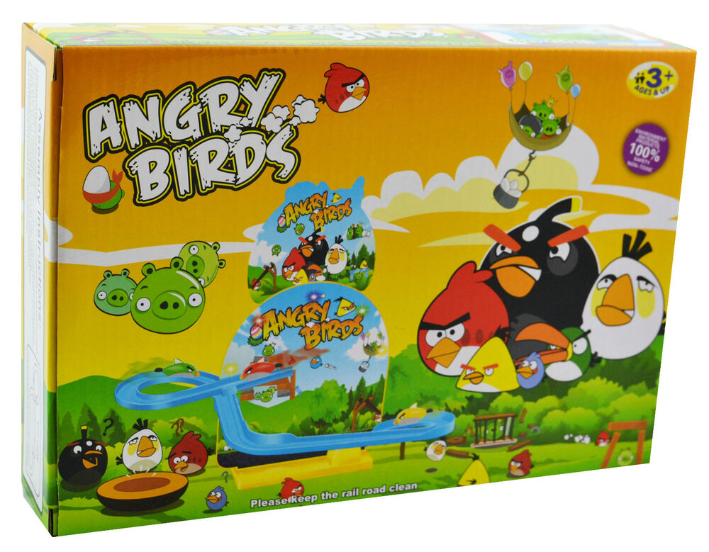 Music flashing light angry birds track set lightning toy gift kids toys small 3 ebay - Angry birds toys ebay ...