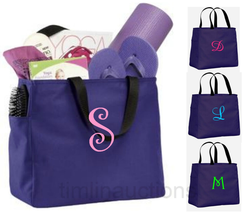 Wedding Gift Bags Bridesmaids : Bridesmaid Gift Bags Personalized Tote Bag Monogram Bridal Wedding ...