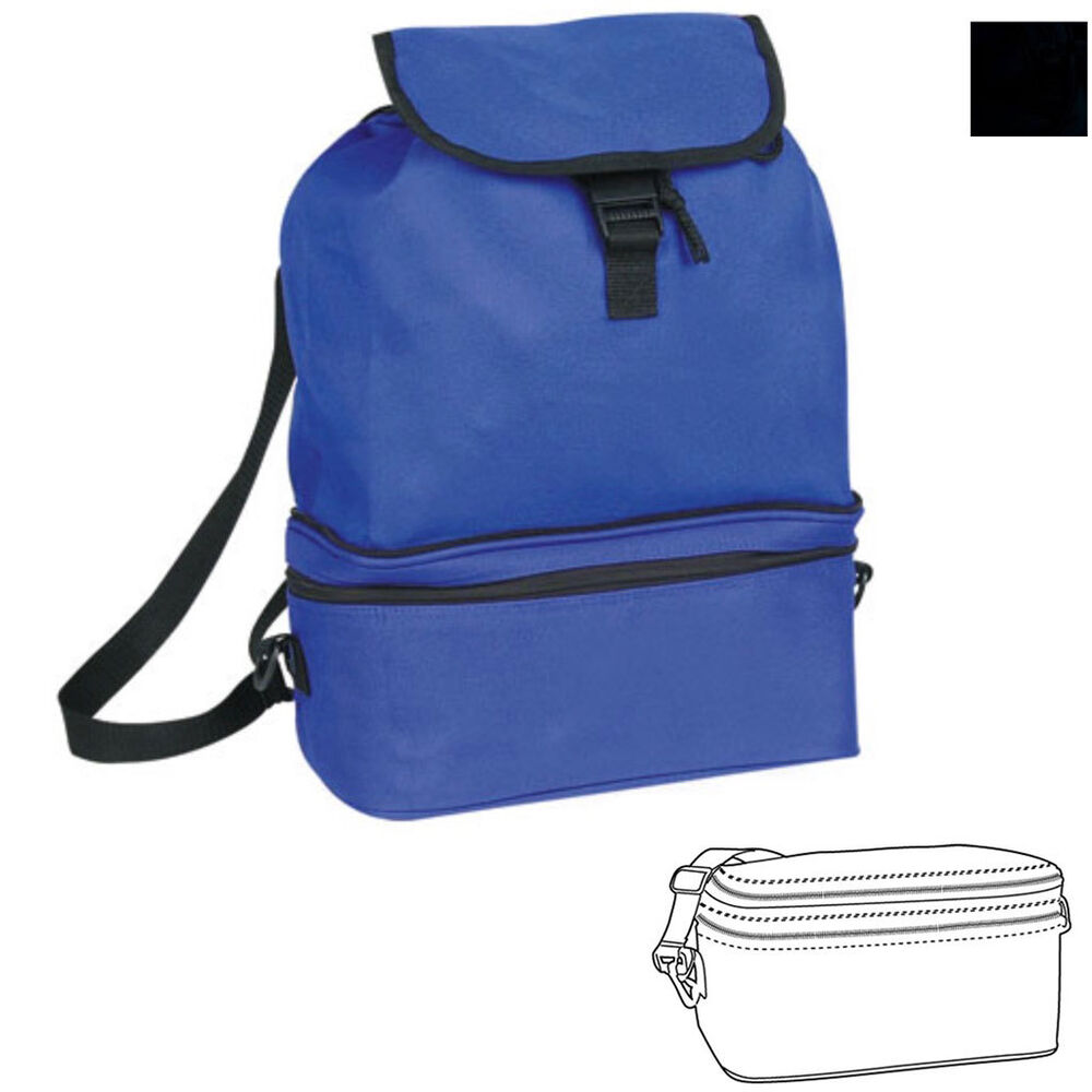 Cooler W Foldable Backpack Picnic Drink Water Lunch Bag