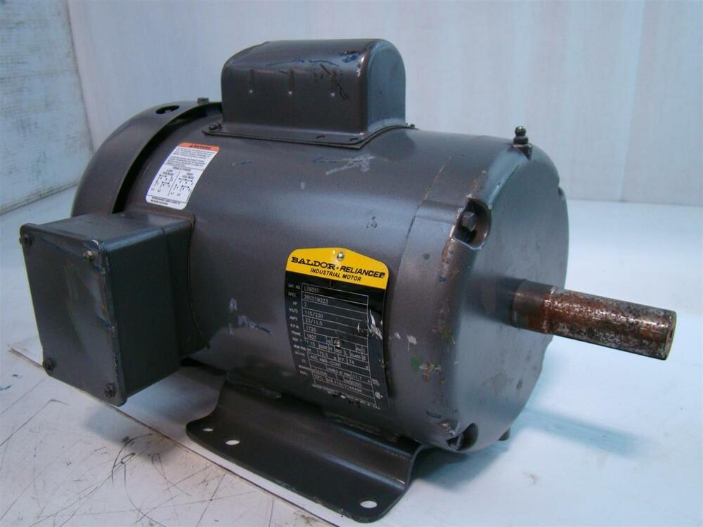 baldor reliance industrial motor 2hp 115 230v 23 11 5amps