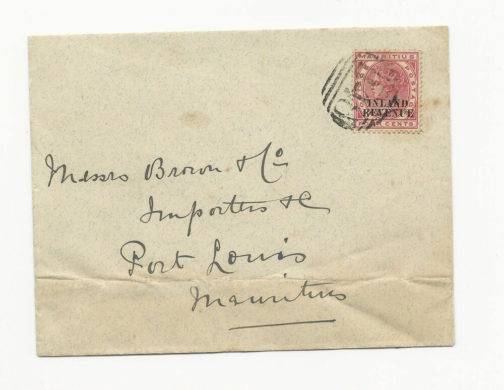 Mauritian Cookbook Cover : Mauritius era cover entire vf cond sg r b cancel