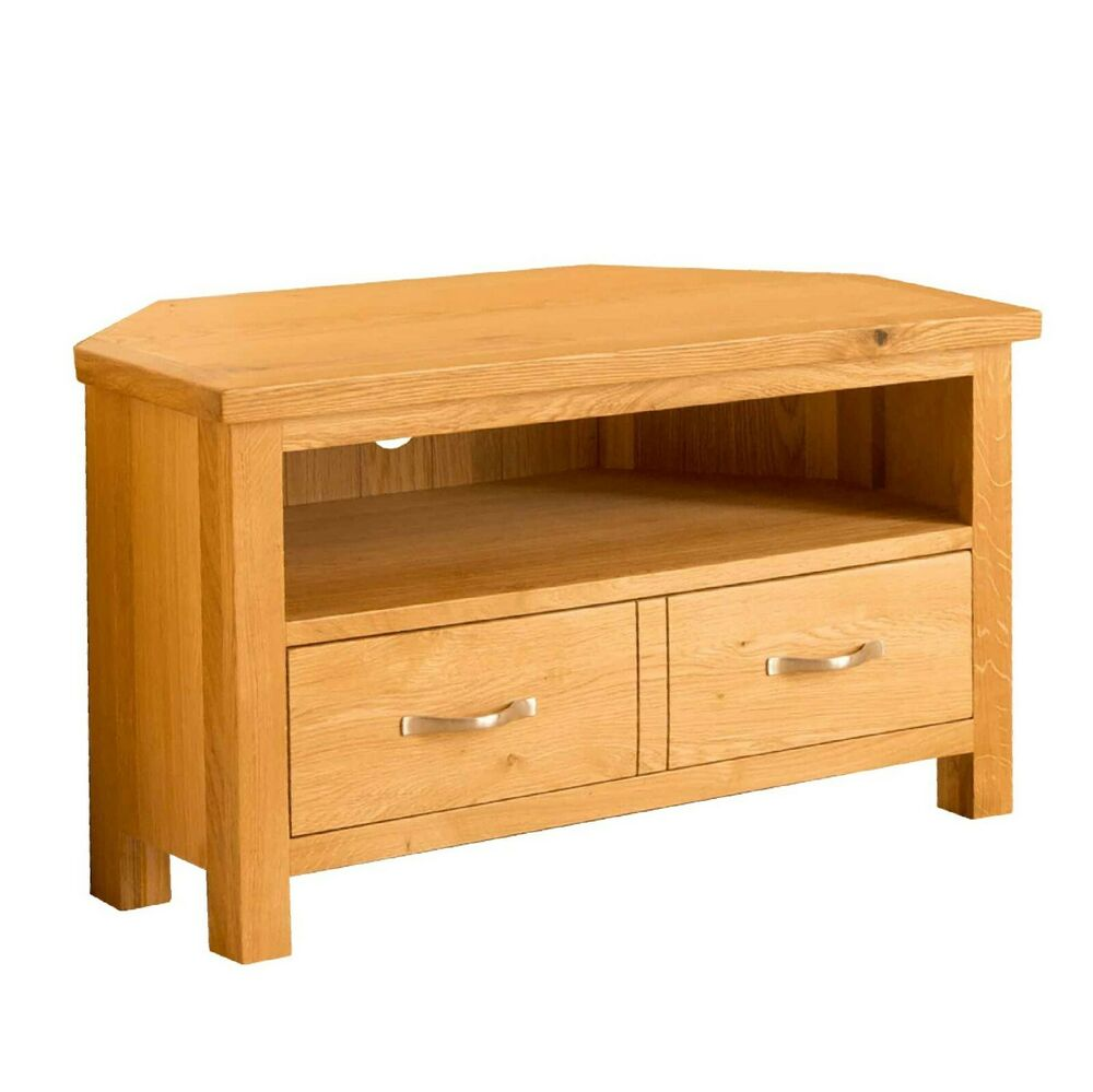 newlyn oak corner tv stand light oak tv unit corner tv. Black Bedroom Furniture Sets. Home Design Ideas