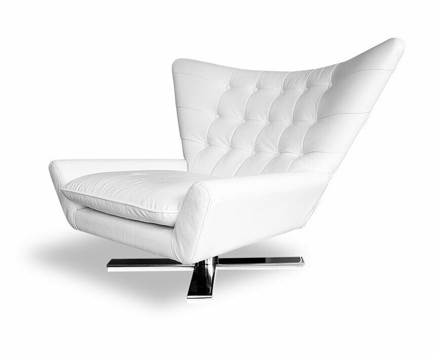 drehbarer leder ohrensessel lounge sessel armlehnsessel fernsehsessel leder ebay. Black Bedroom Furniture Sets. Home Design Ideas