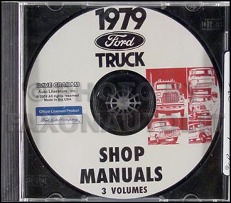 1979 ford truck shop manual cd f100 f150 f250 f350 bronco. Black Bedroom Furniture Sets. Home Design Ideas