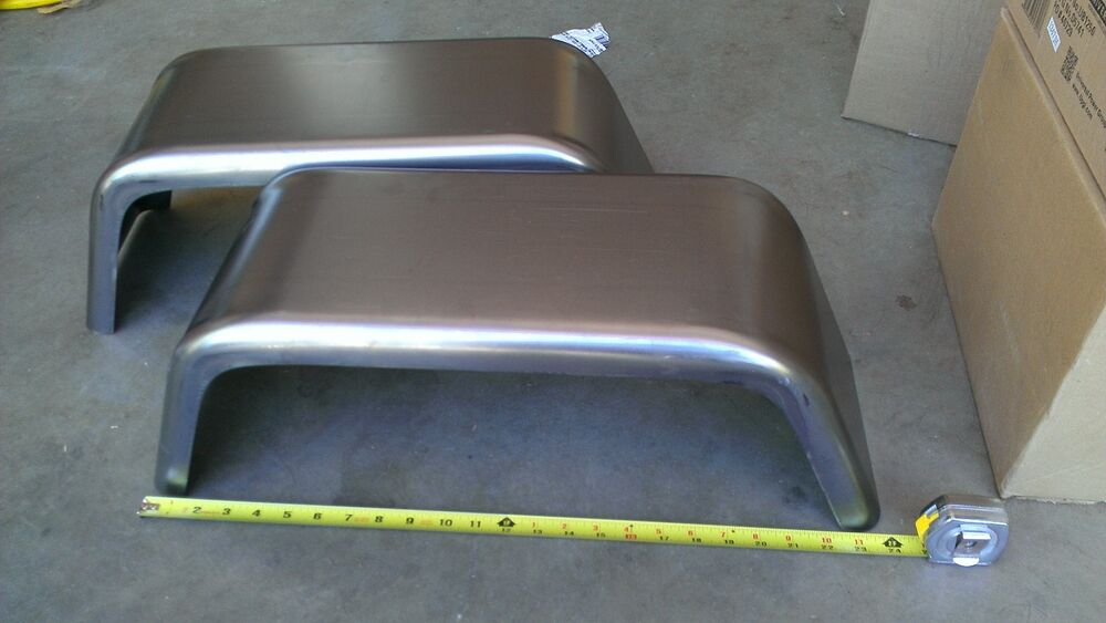 """Selling My Jeep >> PAIR of Steel Trailer Fenders Single Axle 8""""x24"""" JEEP Style FREE SHIPPING!! 