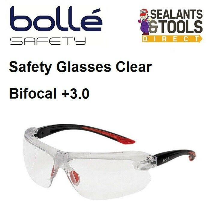 bolle iri s safety glasses clear bifocal reading area 3 0