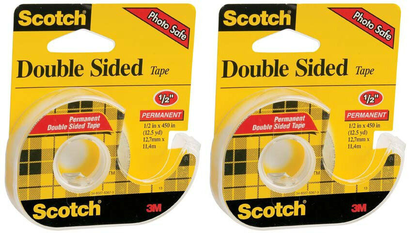 scotch double sided tape permanent 2 1 2 x 450. Black Bedroom Furniture Sets. Home Design Ideas