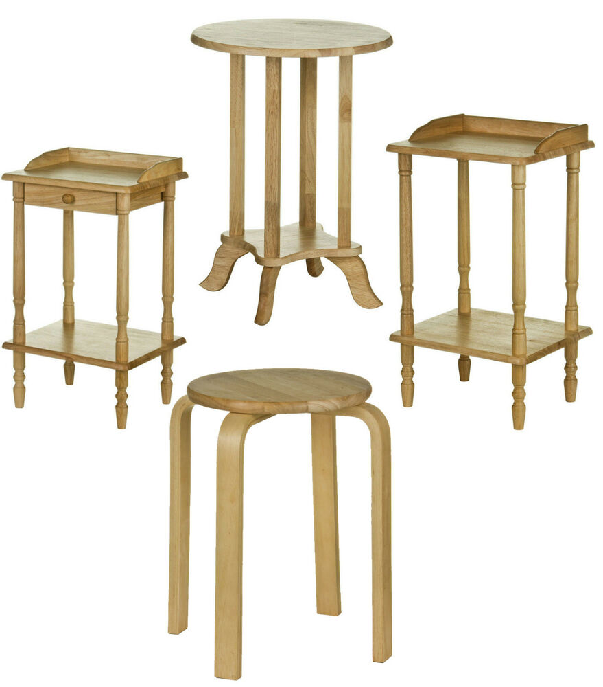 Wood Stacking Tables ~ Telephone table end stacking stool tropical hevea