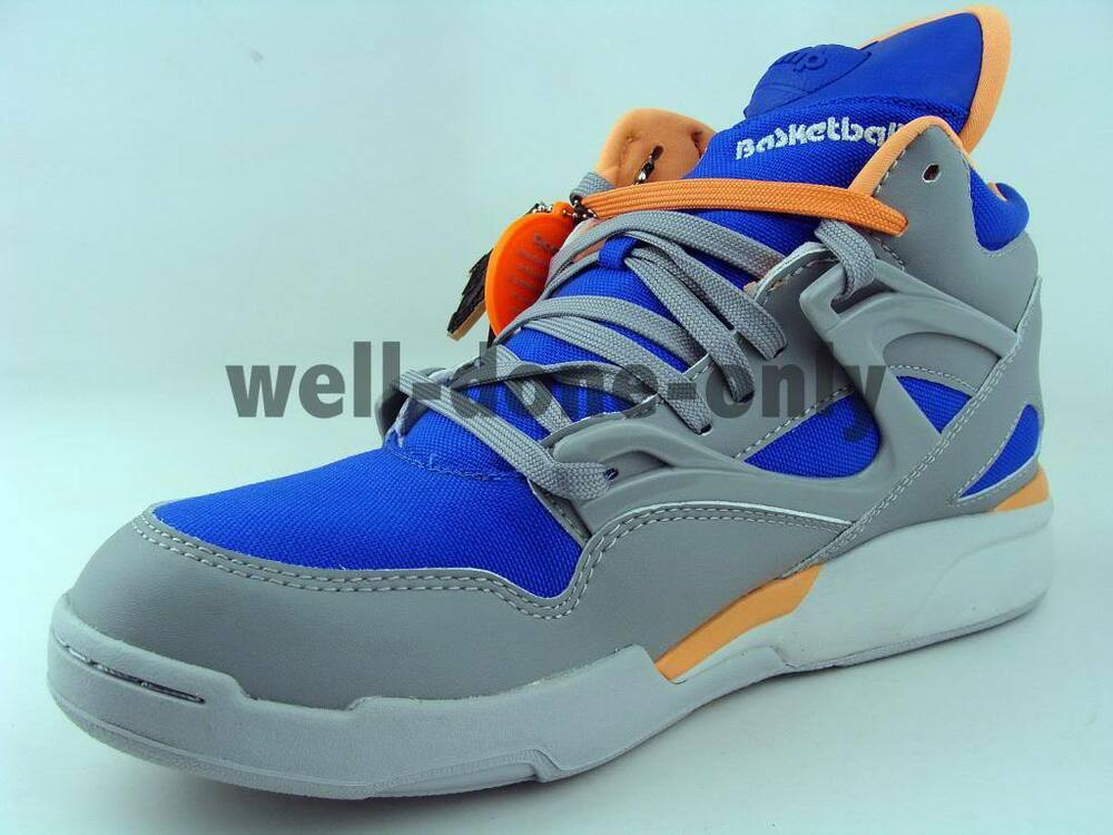 reebok pump omni lite cordura grey royal blue orange retro basketball mens shoes ebay. Black Bedroom Furniture Sets. Home Design Ideas