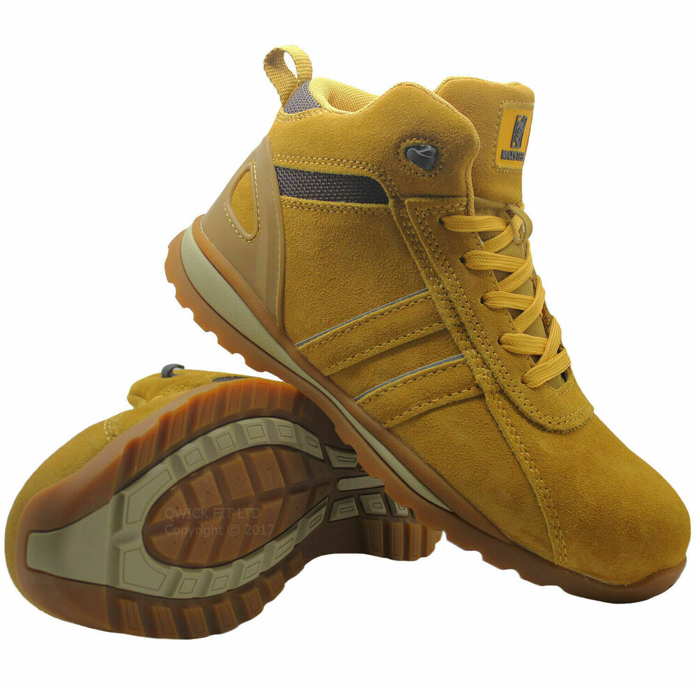 new mens leather safety steel toe cap boots work hiking. Black Bedroom Furniture Sets. Home Design Ideas