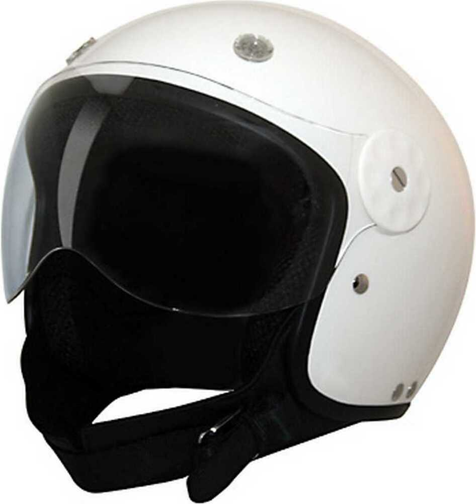 Motorcycle Helmets Dot >> HCI White Open Face Fiberglass Motorcycle Helmet w/ Face Shield 15-700 | eBay