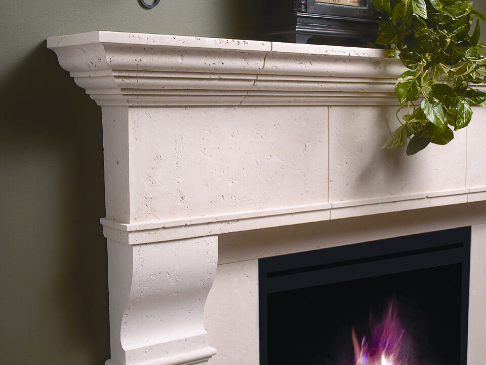 Edinborough Fireplace Mantel Mantle Surround Cast Stone Non Combustible Ebay