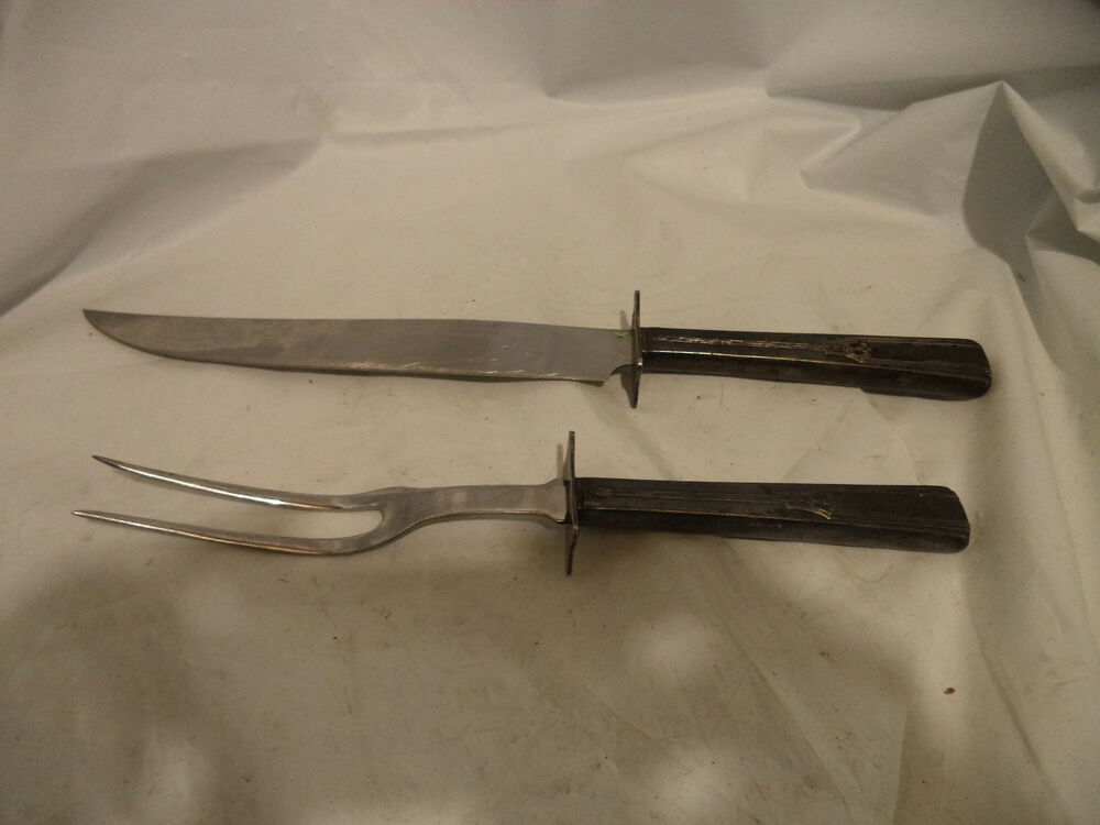 Vtg Carver Hall Stainless Steel Meat Carving Knife Serving