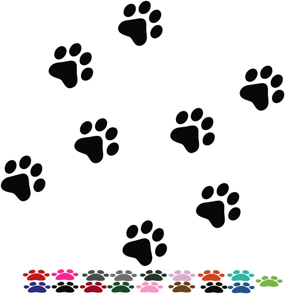 141 X Dog Paw Print Stickers Car Decals Animal Lots Of
