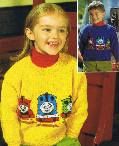 Knitting Pattern Thomas The Tank Engine Sweaters Fits Chest 20 28