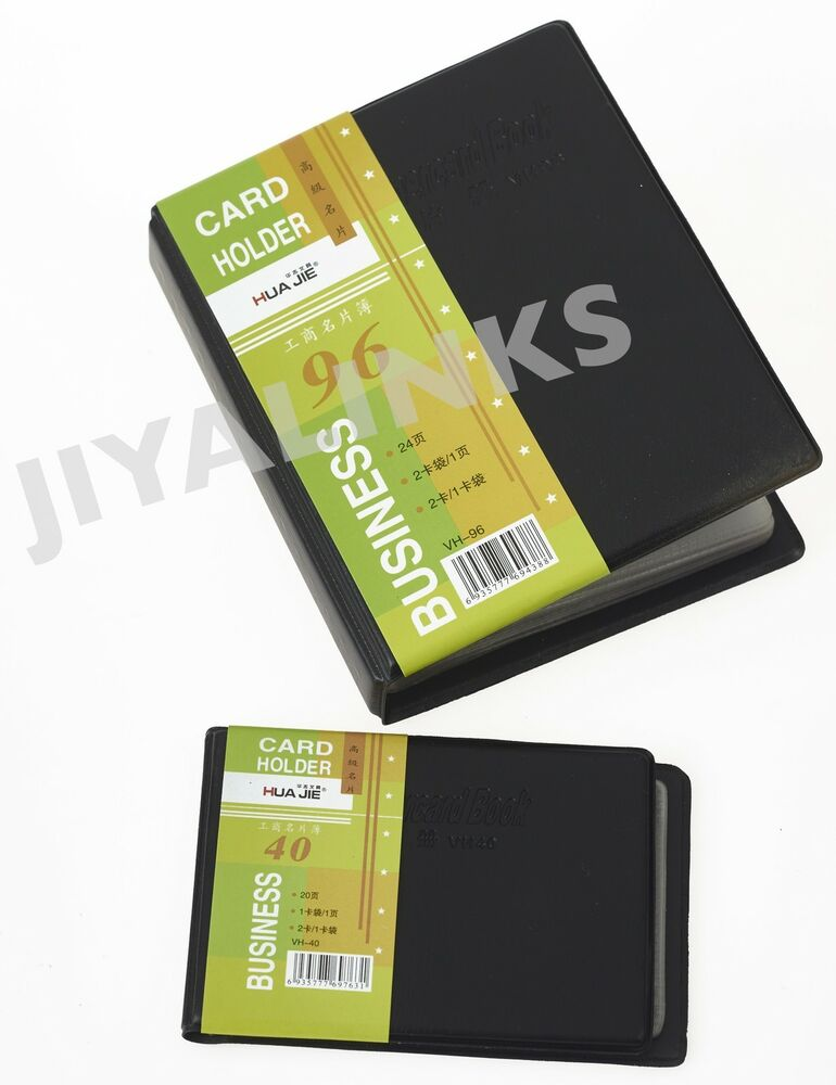 40 or 96 business visiting card holders pouch booklet for Business card pouch