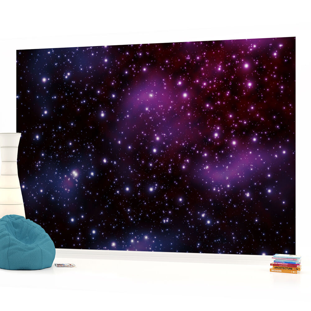 Space Wallpaper Ebay Space Stars Boys Bedroom Photo Wallpaper Wall Mural Room P eBay