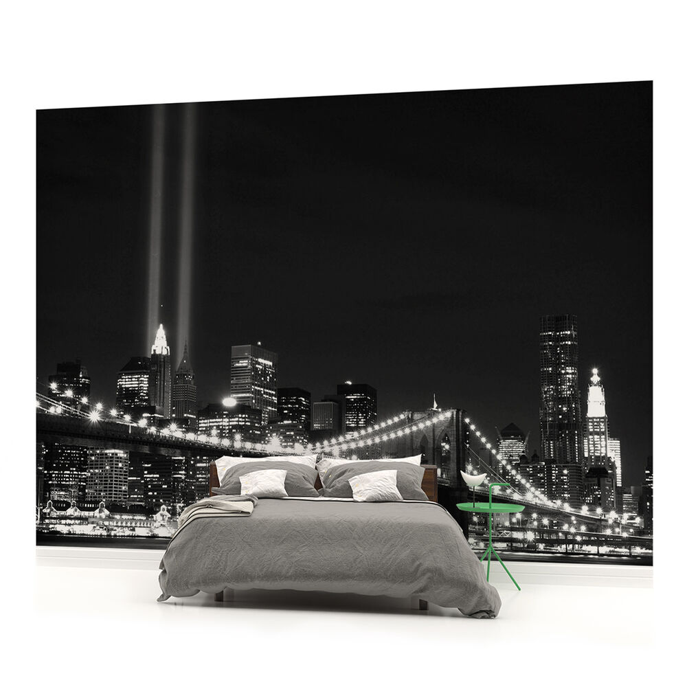 New york brooklyn bridge city photo wallpaper wall mural for Brooklyn bridge wallpaper mural