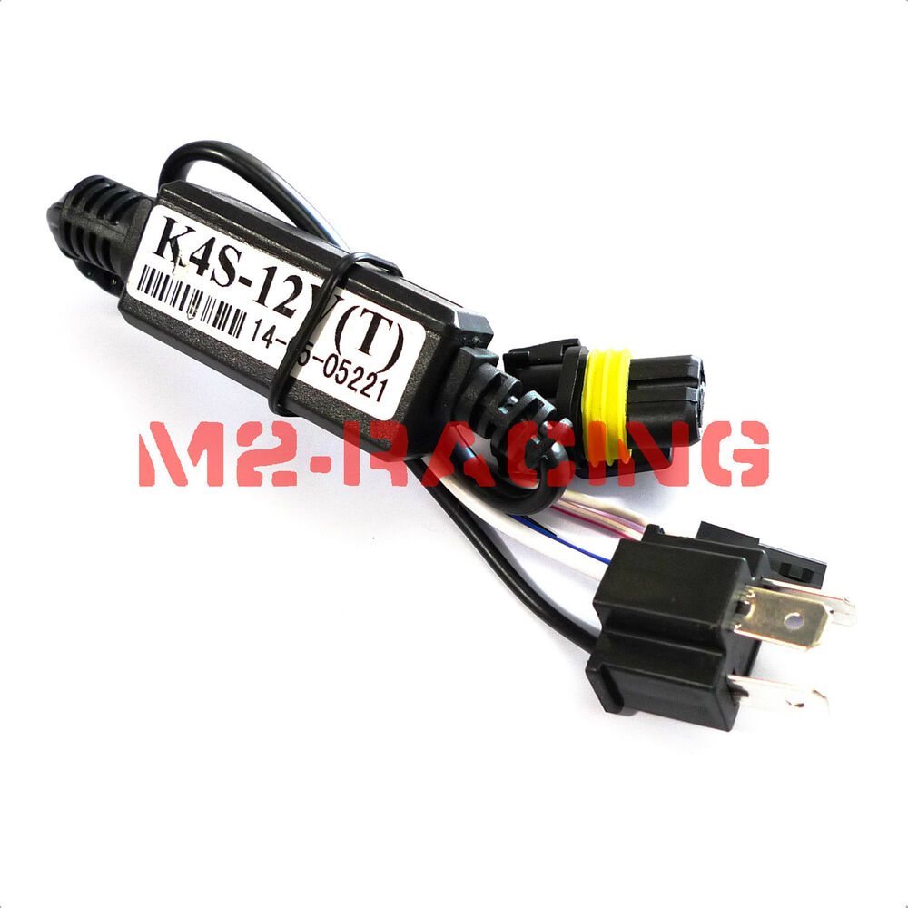 1pc Relay Wiring H4  9003 Bi Lo Motorcycle Hid Kit Harness Controller