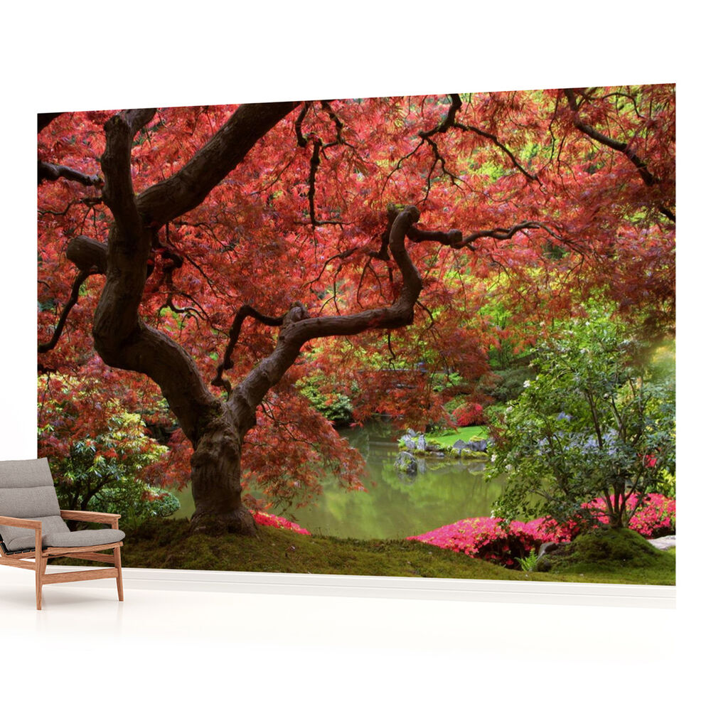 Flowers flower floral landscape photo wallpaper wall mural for Mural flower