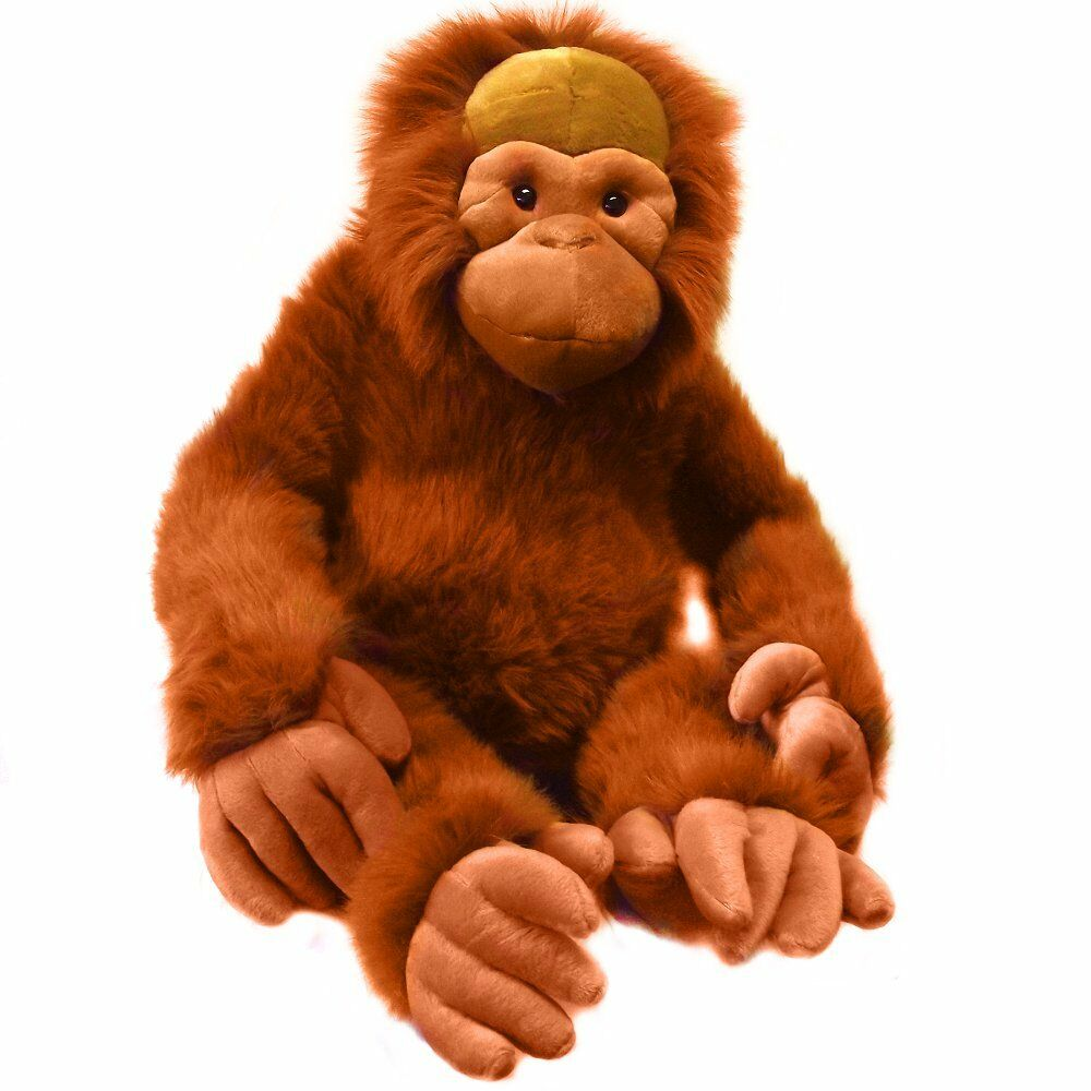 giant 100cm orangutan soft toy stuffed animal monkey toy ebay. Black Bedroom Furniture Sets. Home Design Ideas