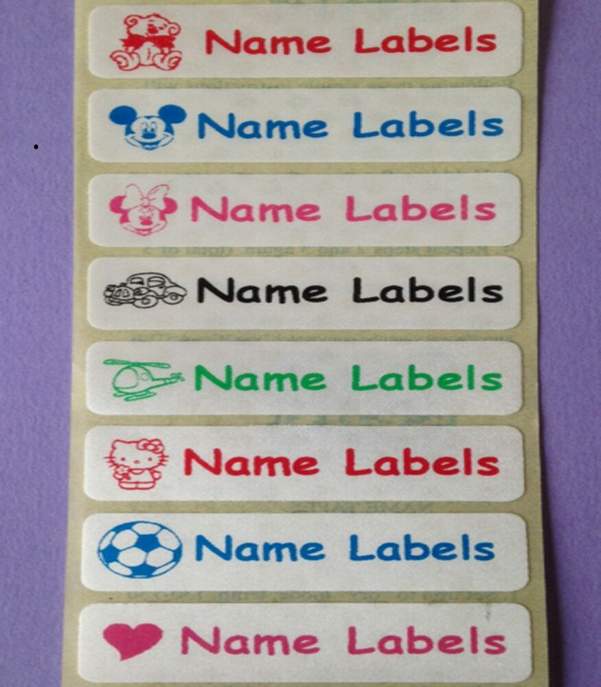 25 Sew In Iron On Satin Personalised Clothes Name Labels