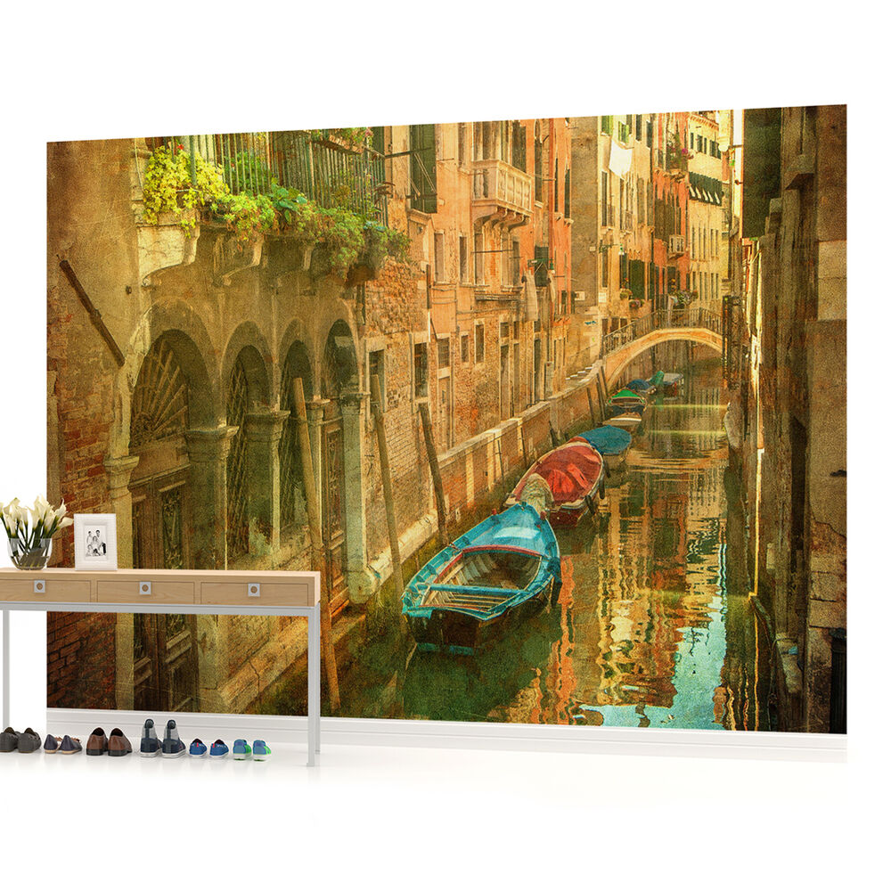 Venice sea italy photo wallpaper wall mural room 156pp for Building wall mural