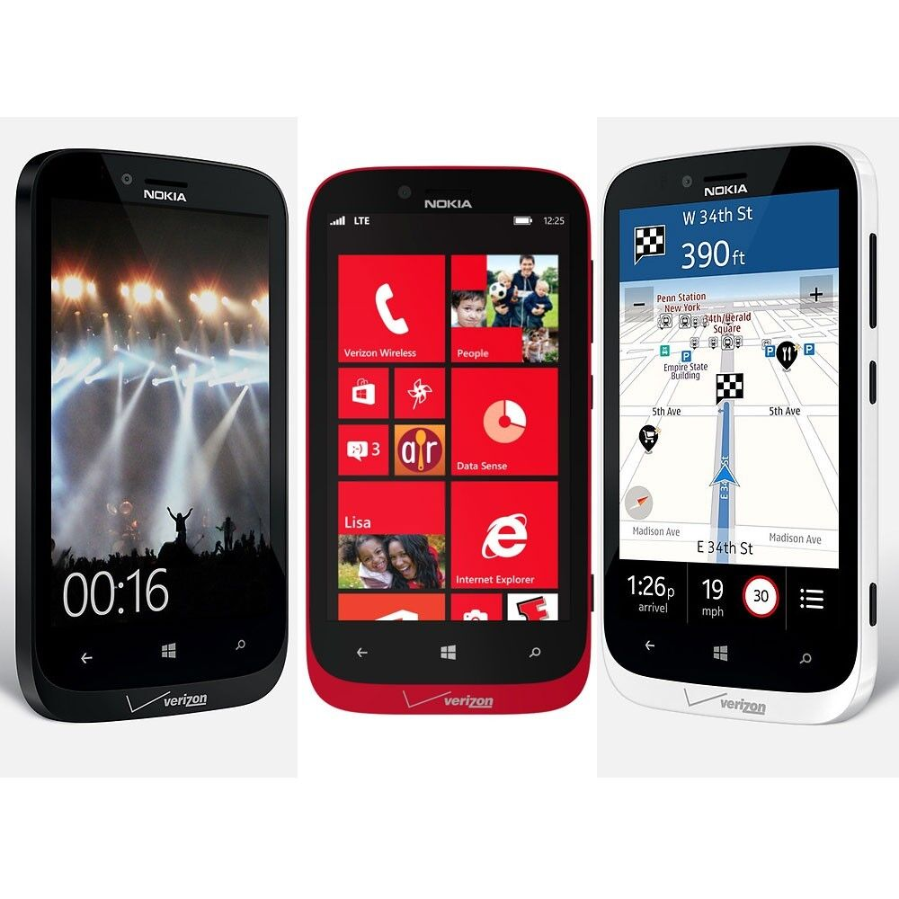 unlocked nokia 822 lumia verizon wireless 16gb wifi windows 4g lte smartphone ebay. Black Bedroom Furniture Sets. Home Design Ideas