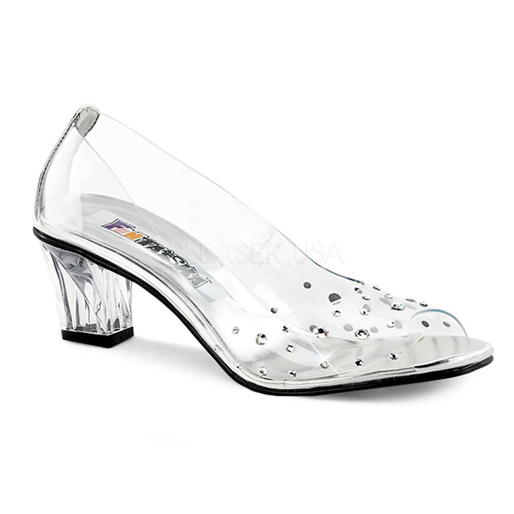 Clear Cinderella Shoes Glass Slippers Size 12 Women