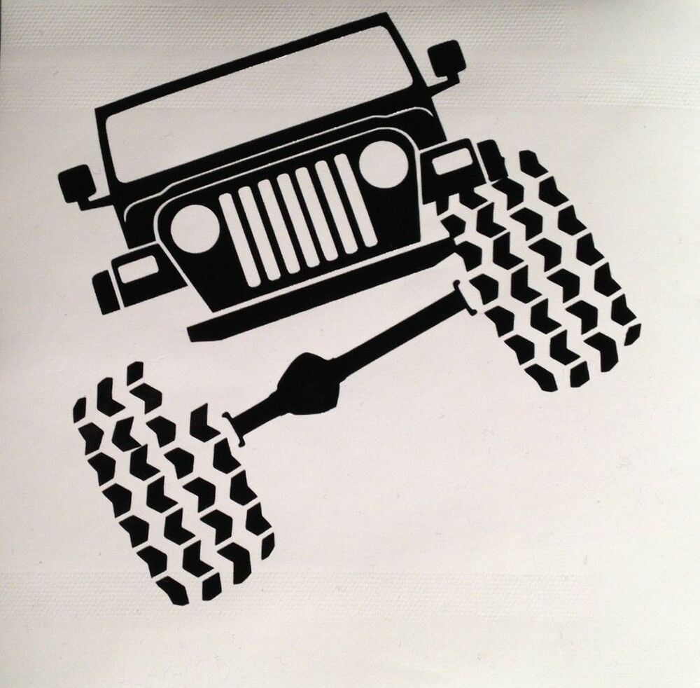 Jeep Wrangler Tj Funny Vinyl Decal Sticker Truck Ipad