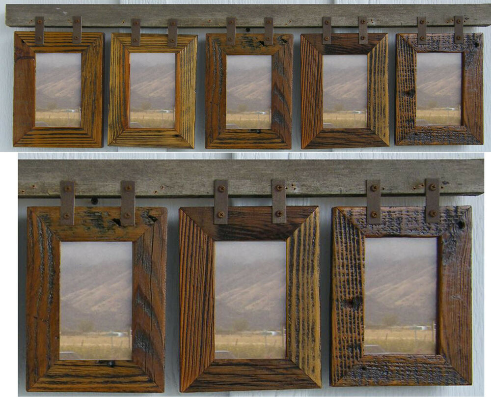 "Barn Wood Rustic Collage Picture Frames For (5) 4"" x 6 ... 