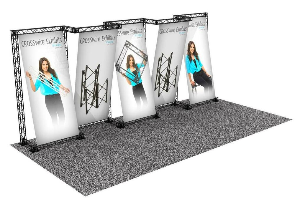 Portable Exhibition Booth Sia : Portable trade show truss display booth custom