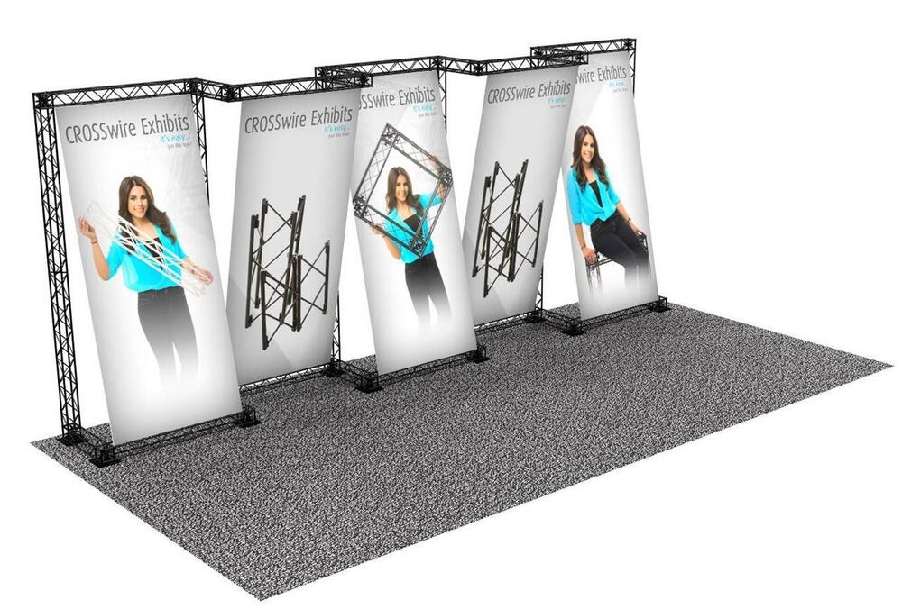 Portable Exhibition Booths : Portable trade show truss display booth custom