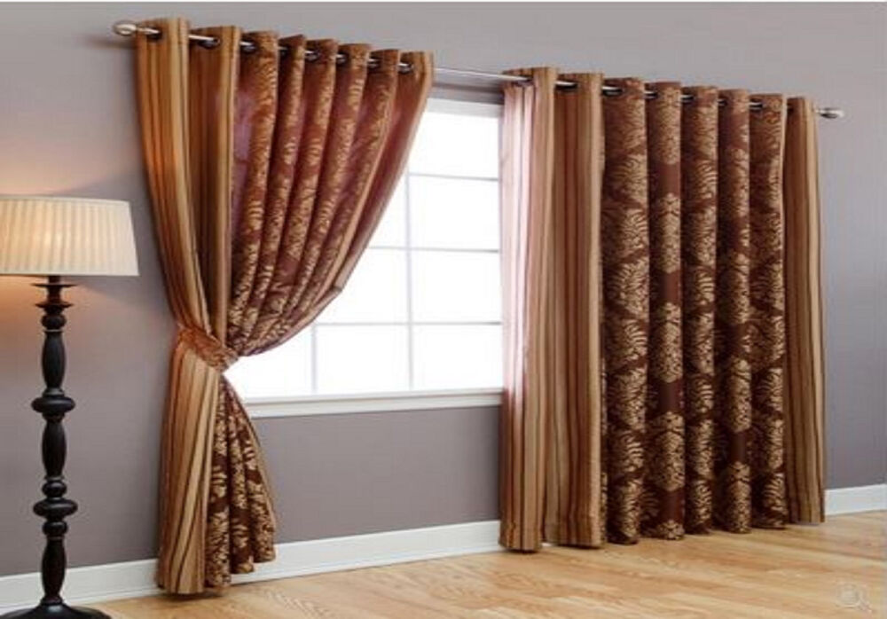 Wide width patio bedroom livingroom grommet window treatment curtains drapes ebay - Curtains in bedroom ...