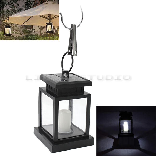 Solar Wall Lantern Lights : Solar Power Hanging Lamp LED Lantern Outdoor Garden Yard Wall Light eBay